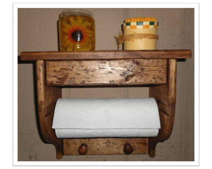 Paper Towel Holder Shelf Hidden Compartment