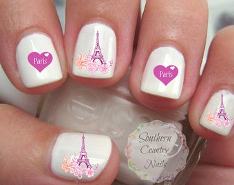 I Love Paris Eiffel Tower Nail Art Decals