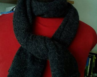 Shawl hand knitted pure Alpaca