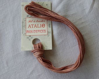 Embroidery FLOSS stranded gingerbread colour ATALIE