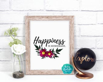Motivational Quote Digital Print, Wall Art, Home Decor, Quotes and Sayings, Cute Wall Hanging, Wall Decor, Wall Sign, Home, Happiness Quote