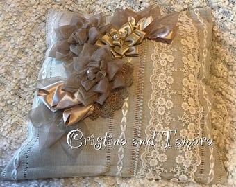 Delicate lace pillow