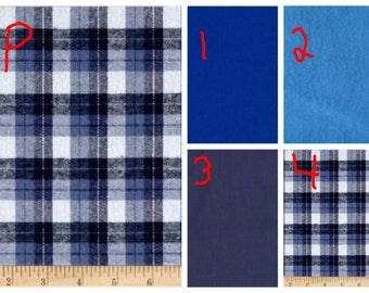 Blue and White Plaid - Teen/Adult Flannel Weighted Blanket