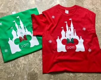 Disney Holiday Castle shirts | Disney Shirts | Matching Disney Family Shirts | Castle Shirts| Disney Shirt for Family