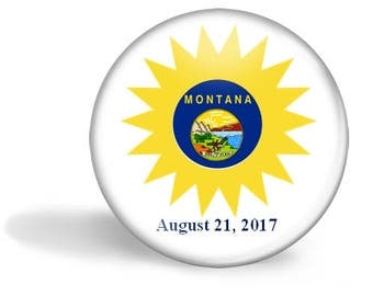 Montana Eclipse Magnet, Eclipse Party Pin, Montana Eclipse Pin, Total Solar Eclipse