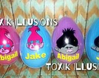 Easter Egg Container with stuffed bunny/Personalized/Custom/Name/Easter Basket Stuffers/Fillers