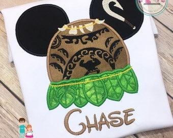 Maui Mouse Head Inspired Shirt, Disney Vacation, Personalized Maui Mousehead Shirt, Boys Maui Shirt, Maui Hawaiian Disney Shirt, Family