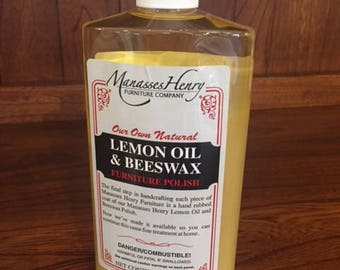 Lemon Oil & Beeswax  16oz