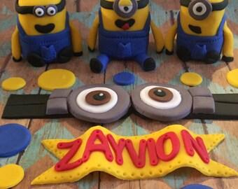 Minion Cake Topper Set
