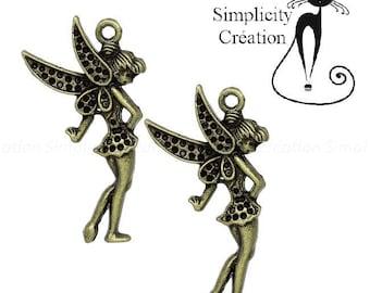 Fairy bronze 36 mm x 20mm charm pendant