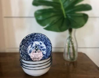 FREE SHIPPING | Chinoiserie | Hollywood Regency | Blue and White | Porcelain | Vintage