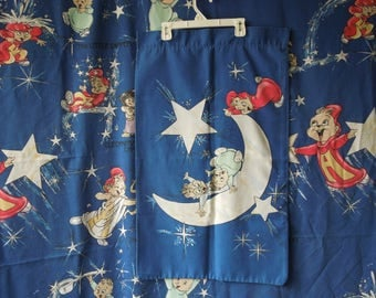 80s 90s Alvin and The Chipmunks Astronomy Flat Twin Sheet and Pillowcase
