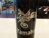 Motorcycle Themed Stainless Steel Travel Mug - Black Motocross Yamaha Double Insulted Travel Mug Thermos