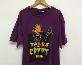 On Sale 20% Off Vintage Tales From The Crypt Only On HBO Movie T Shirt,Classic Horror TV Show T Shirt