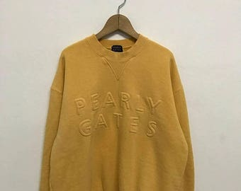 20% OFF Vintage Pearly Gates Big Logo Sweatshirt,Pearly Sport Sweater,Pearly Sport Usa