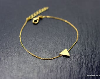 Bracelet mini gold triangle