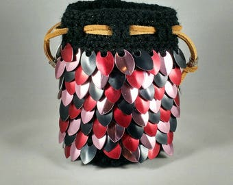 Strawberry Tart Dragon Scale Dice Bag (special edition)