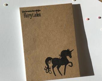 Handstamped Note Book - Pencil - Various
