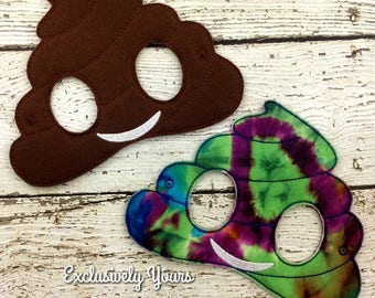 Poop Emoji Childrens Felt Mask  - Costume - Theater - Dress Up - Halloween - Face Mask - Pretend Play - Party Favor