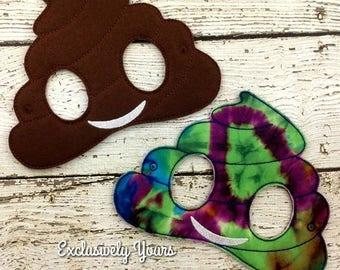 Poop Emoji Childrens Felt Mask  - Costume - Theater - Dress Up - Halloween - Face Mask - Pretend Play - Party Favor