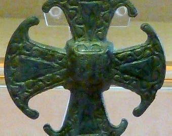Vintage Brass Door Knocker Canterbury Cross