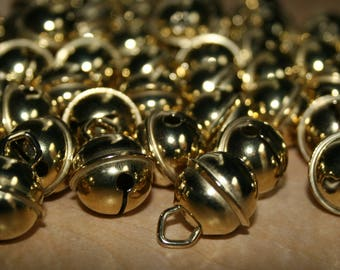 Gold Bells with Handle 19 mm
