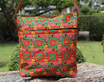 Bohemian bag  Women's Cross body Messenger Bag  Hippy Bag  Colourful Shoulder  bag Women's Beach Bag Cross body  bag  I pad bag Hobo Bag