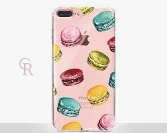 Macaron iPhone 6 Case - Clear Case - For iPhone 8 - iPhone X - iPhone 7 Plus - iPhone 6 - iPhone 6S - iPhone SE Transparent - Samsung S8