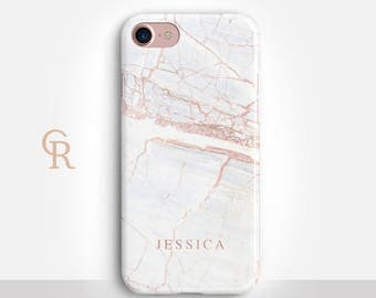Personalised Marble Phone Case For iPhone 8 iPhone 8 Plus iPhone X Phone 7 Plus iPhone 6 iPhone 6S  iPhone SE Samsung S8 iPhone 5 Custom