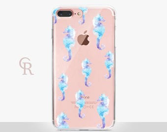 Seahorse Clear Phone Case For iPhone 8 iPhone 8 Plus iPhone X Phone 7 Plus iPhone 6 iPhone 6S  iPhone SE Samsung S8 iPhone 5 Transparent