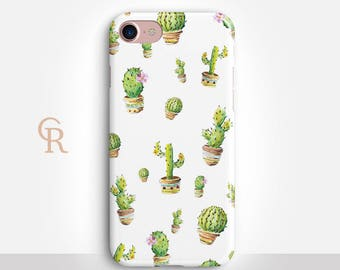 Cactus Phone Case For iPhone 8 iPhone 8 Plus iPhone X Phone 7 Plus iPhone 6 iPhone 6S  iPhone SE Samsung S8 iPhone 5 Floral Bohemian Boho