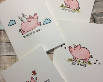 This Little Piggy Cards