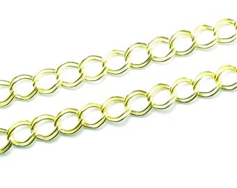 50cm cord DOUBLE golden chain mesh