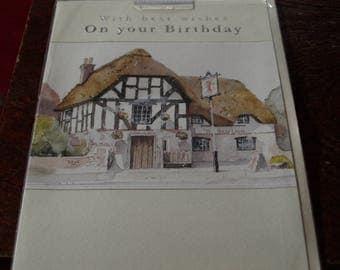 The Red Lion Pub Birthday Card