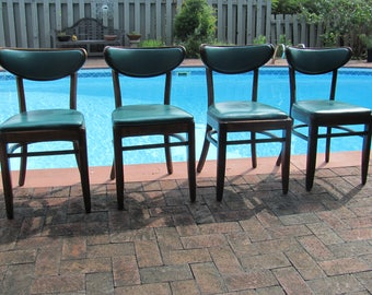 Set of Four Vintage Mid Century Modern Cafe Chairs