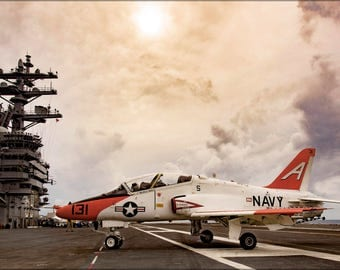 Poster, Many Sizes Available; T-45C Goshawk T-45 Uss Dwight D. Eisenhower (Cvn-69)