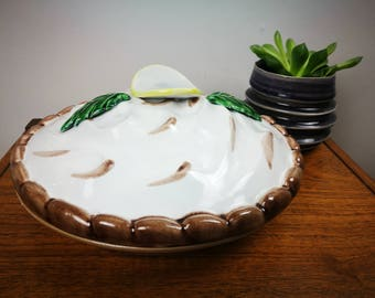 Vintage Lemon meringue pie dish
