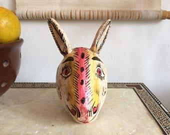 Rabbit head, wall decor.