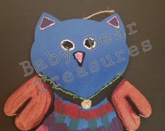 Owl Wallhanging, Wooden Owl Decor, Owl Decor,