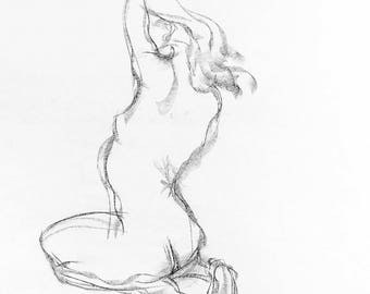 Tagliazucchi Roberto sculptor,  Original charcoal Drawing number 26