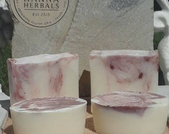 Rose Soap - Rose Salt Bars - Rose Hand Soap - Salt Bars - Rose Essential Oils - Brine soap - olive oil soap - red clay doap