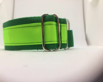 Reflective martingale collar,pet lover,custom dog collar,designer dog collar,dog collar fabric,unique dog collar,greyhound collar, whippet