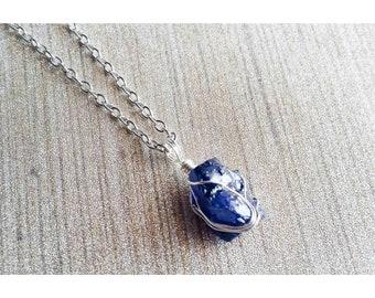 Tanzanite Necklaces, Crystal Necklaces, Gemstone Necklaces, Blue Necklaces, Silver Necklaces, Wire Wrapped Necklaces, Tanzanite Jewelry
