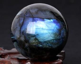 Labradorite Sphere | Labradorite Crystal Ball | Polished Labradorite | Flashy Labradorite | Crystal Ball | Crystal Sphere | Boho Decor#349