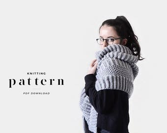 Wrap Knitting Pattern / Scarf Pattern / Bulky Scarf Knitting Pattern / Oversize Knitting Pattern / Super Scarf Pattern