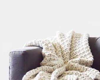 Blanket Crochet Pattern / Throw Blanket Crochet Pattern / Afghan Crochet Pattern / Bulky Blanket Crochet Pattern / Afghan Pattern