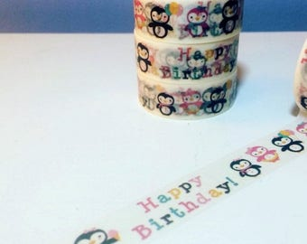 45% OFF 4th Of July Happy Birthday Penguins, Washi Tape