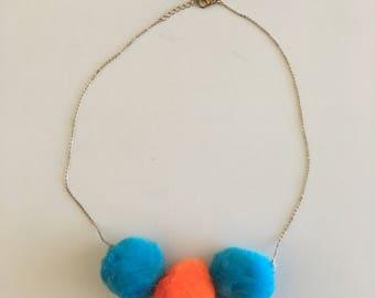 Large Pom Pom Necklace