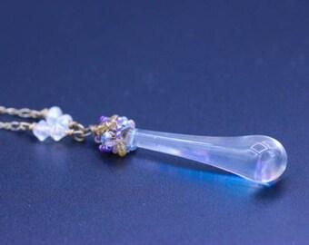 Tear Drop Chandelier Necklace