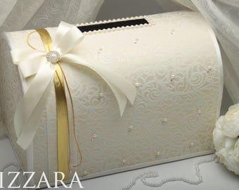 Wedding Money Box Ivory Card Gift Holder Accessories Vintage